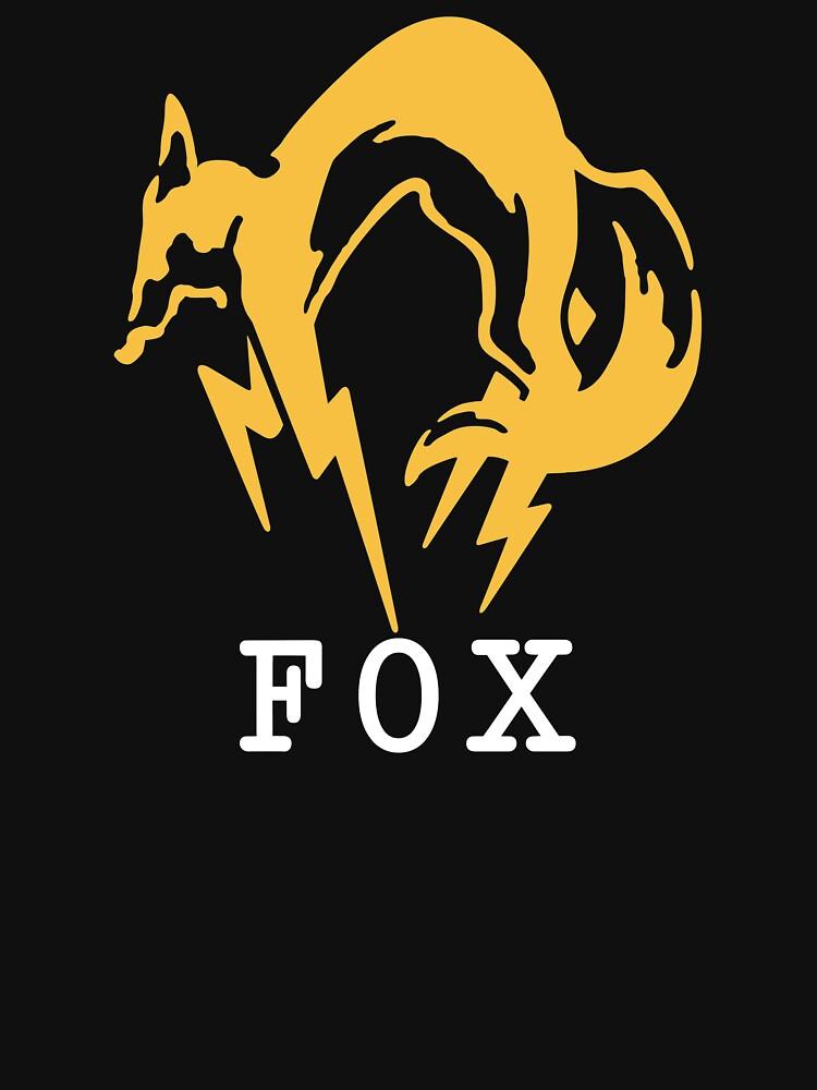 Metal Gear Solid - FOX +text | Unisex T-Shirt