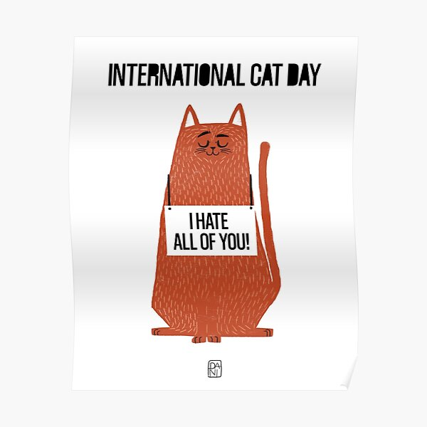 International cat day Poster