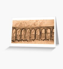 the aquaduct..... Greeting Card