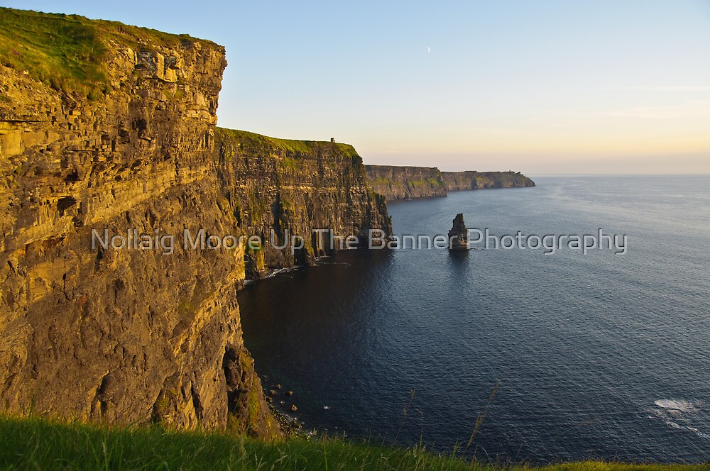 cliffs of moher sunset landscape county clare ireland by Noel Moore Up The Banner Photography