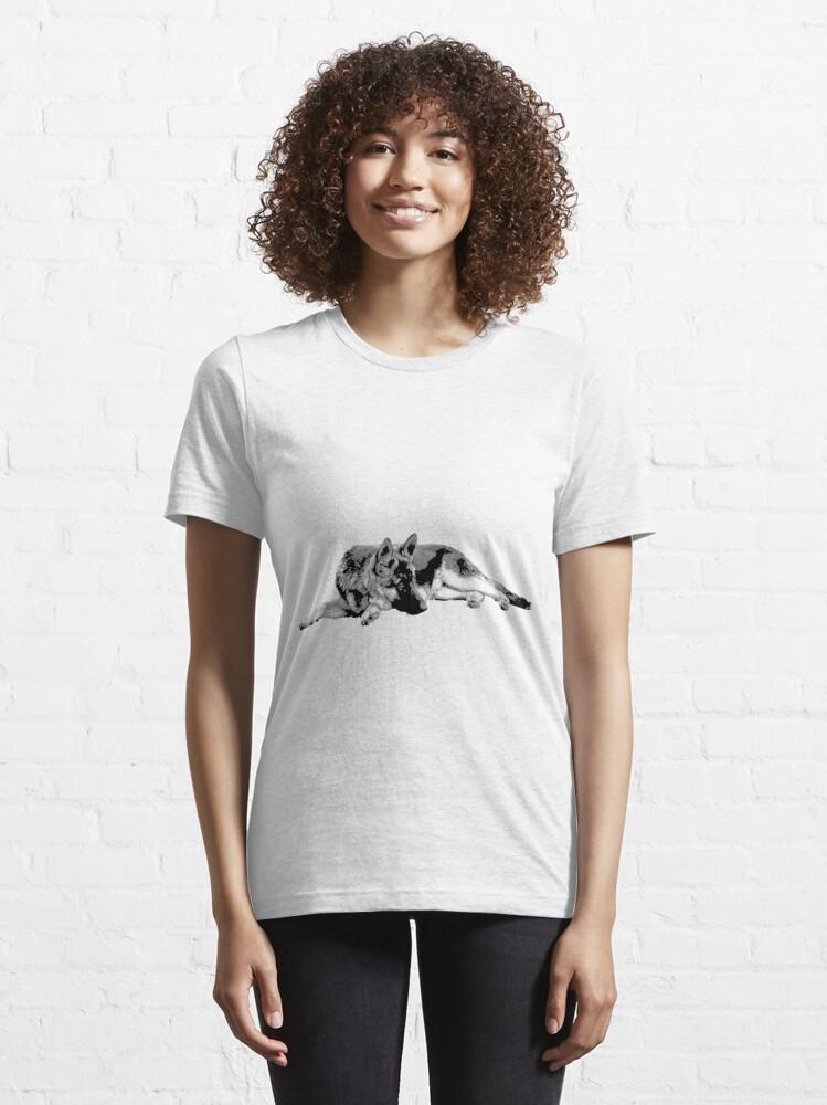 Alternative Ansicht von Schäferhund Essential T-Shirt