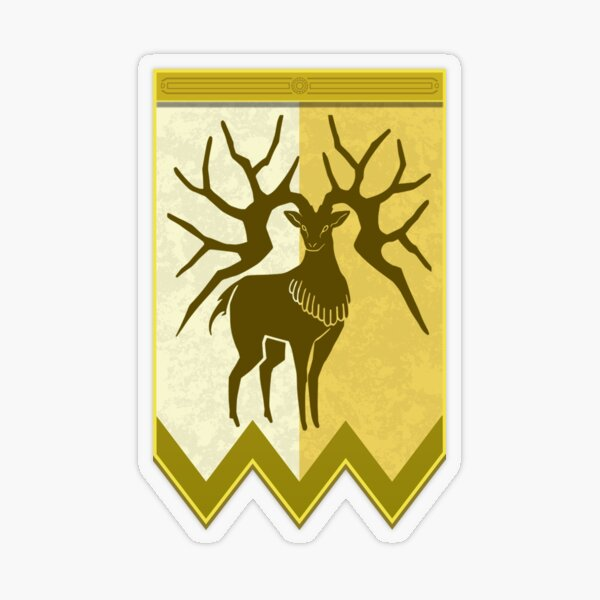 Fire Emblem 3 Houses: Golden Deer Banner Sticker transparent