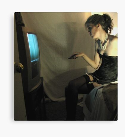What She Does Once He Is Safely Bound and Blindfolded (ltd ed) Canvas Print