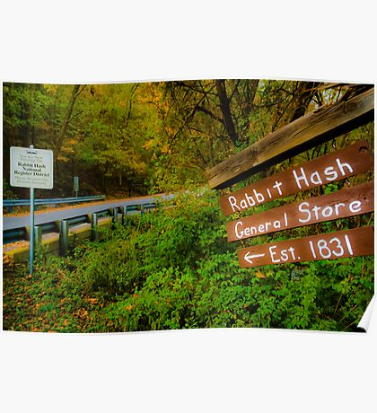 This Way to Rabbit Hash Poster