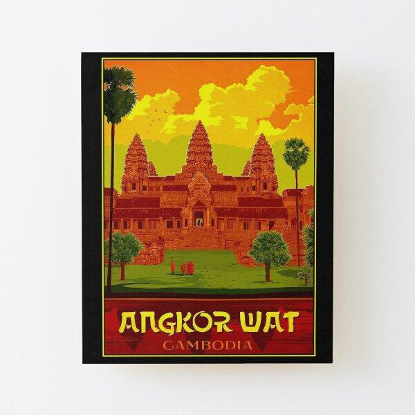 ANGKOR WAT : Vintage Cambodia Temple Print Wood Mounted Print