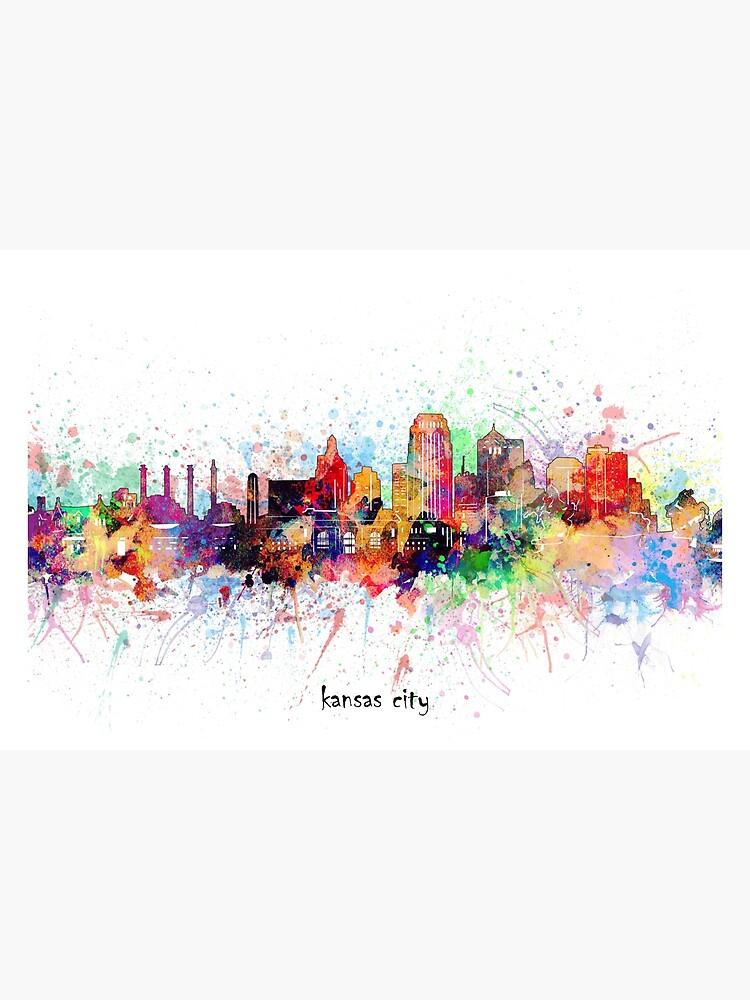 kansas city skyline by BekimART