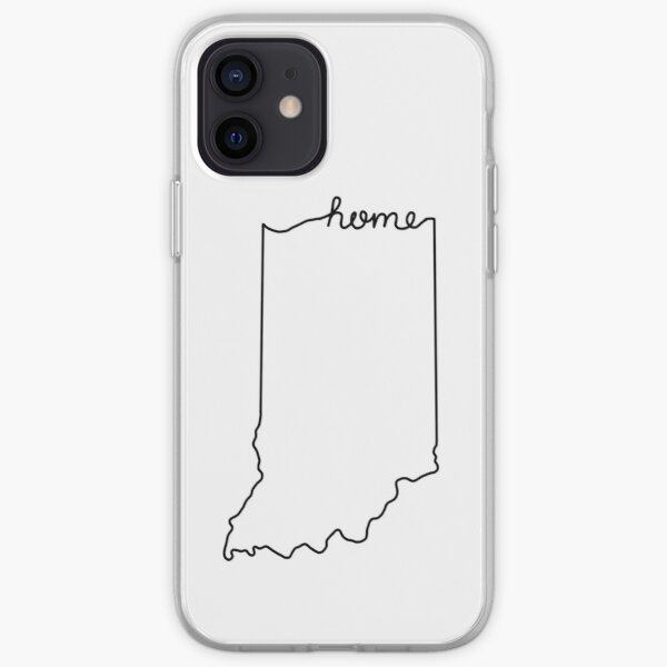 Indiana Home State Outline iPhone Soft Case
