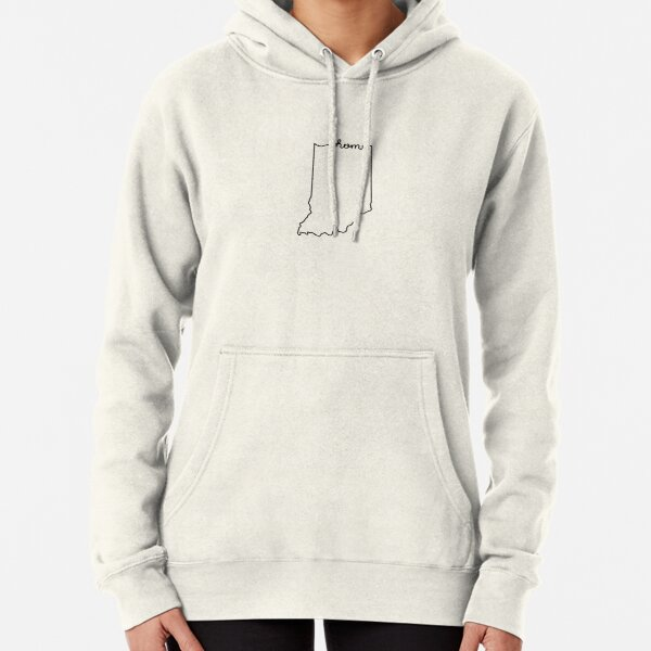 Indiana Home State Outline Pullover Hoodie