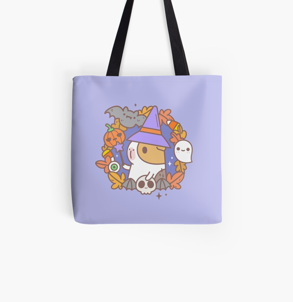 Bubu the Guinea pig, Witchy Wreath All Over Print Tote Bag