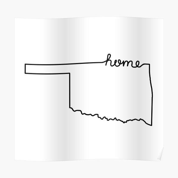 Oklahoma Home State Outline Poster
