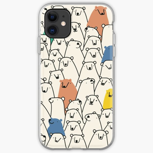 Bears pattern iPhone Soft Case