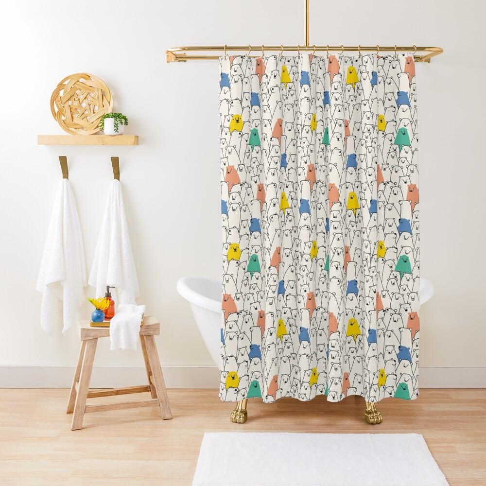 Bears pattern Shower Curtain