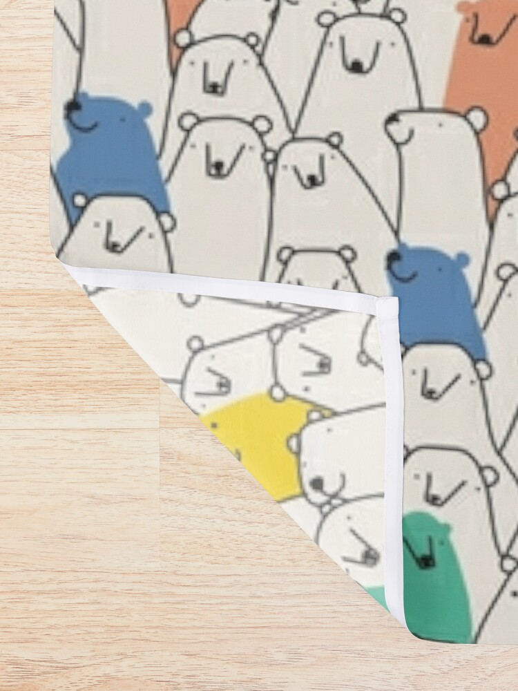 Alternate view of Bears pattern Shower Curtain