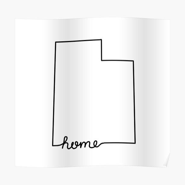 Utah Home State Outline Poster