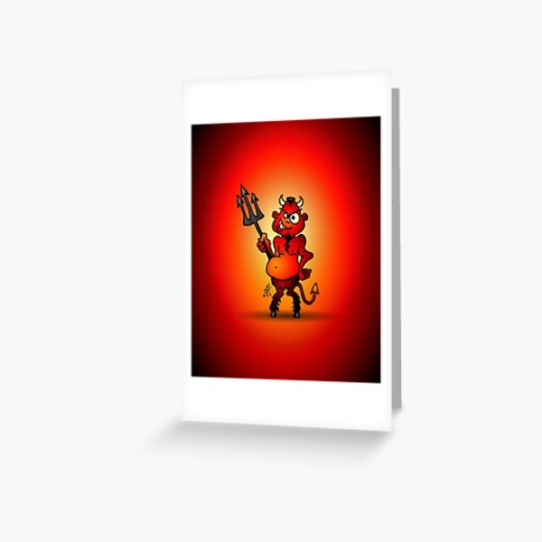 Fat red devil Greeting Card