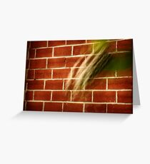 Red Brick and Leaf Greeting Card