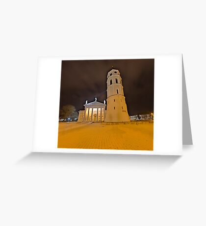 Cathedral of Vilnius Greeting Card