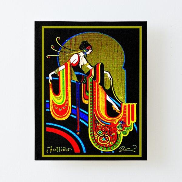 FLAPPER : Vintage 1920 Art Deco Beautiful Print Canvas Mounted Print