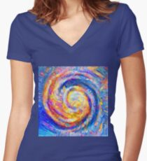 Abstract segmentation of phoenix Fitted V-Neck T-Shirt