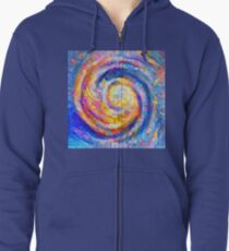 Abstract segmentation of phoenix Zipped Hoodie
