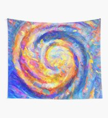Abstract segmentation of phoenix Wall Tapestry