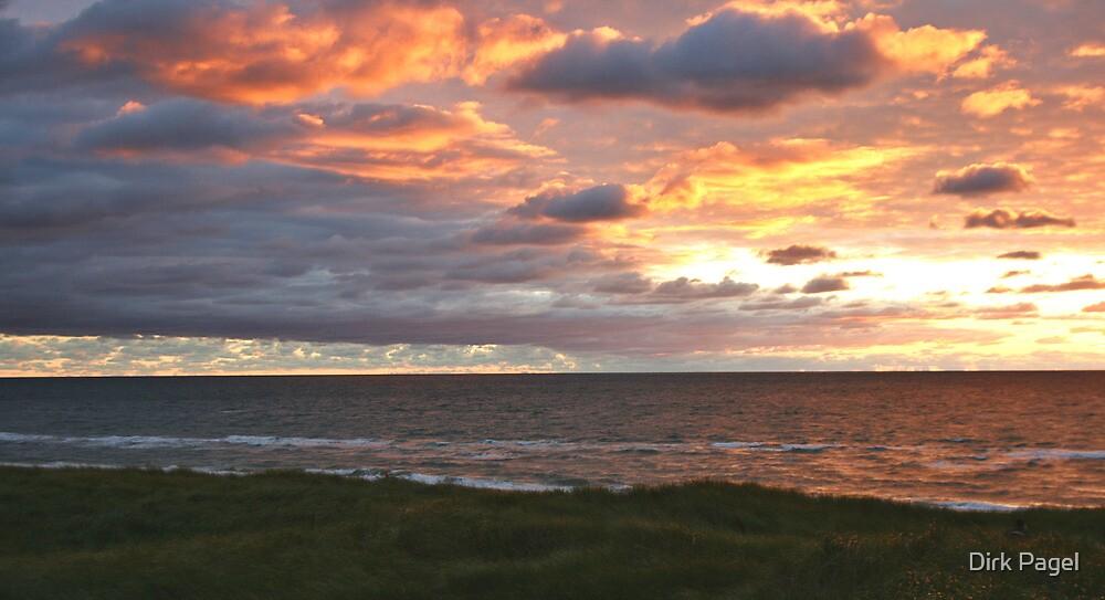 Sunset at Hvidesande by Dirk Pagel
