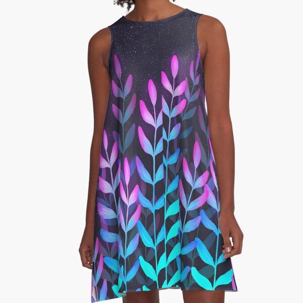Glowy foliage A-Line Dress