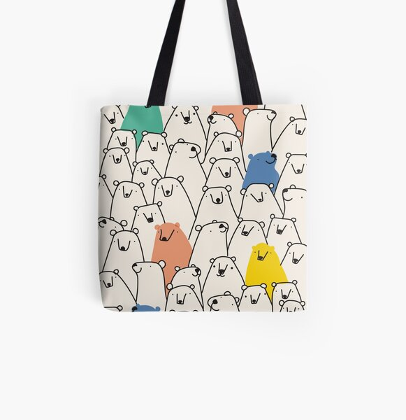 Bears pattern All Over Print Tote Bag