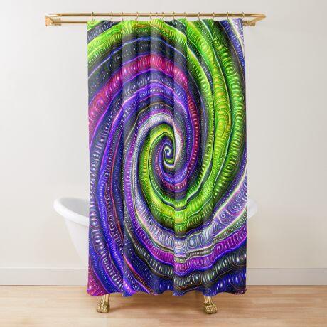 Source #DeepDream #Art Shower Curtain