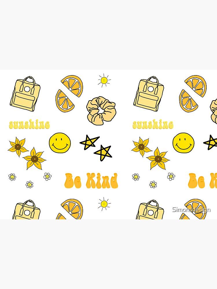 VSCO Girl Yellow Sticker Packet by Simonsdesign