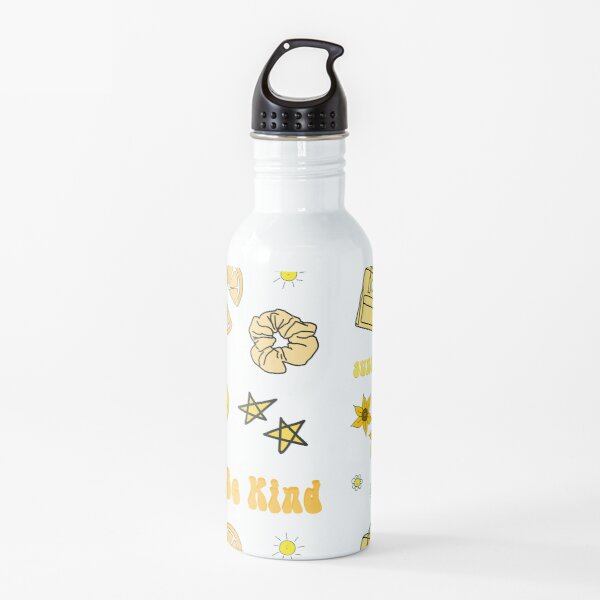 VSCO Girl Yellow Sticker Packet Water Bottle