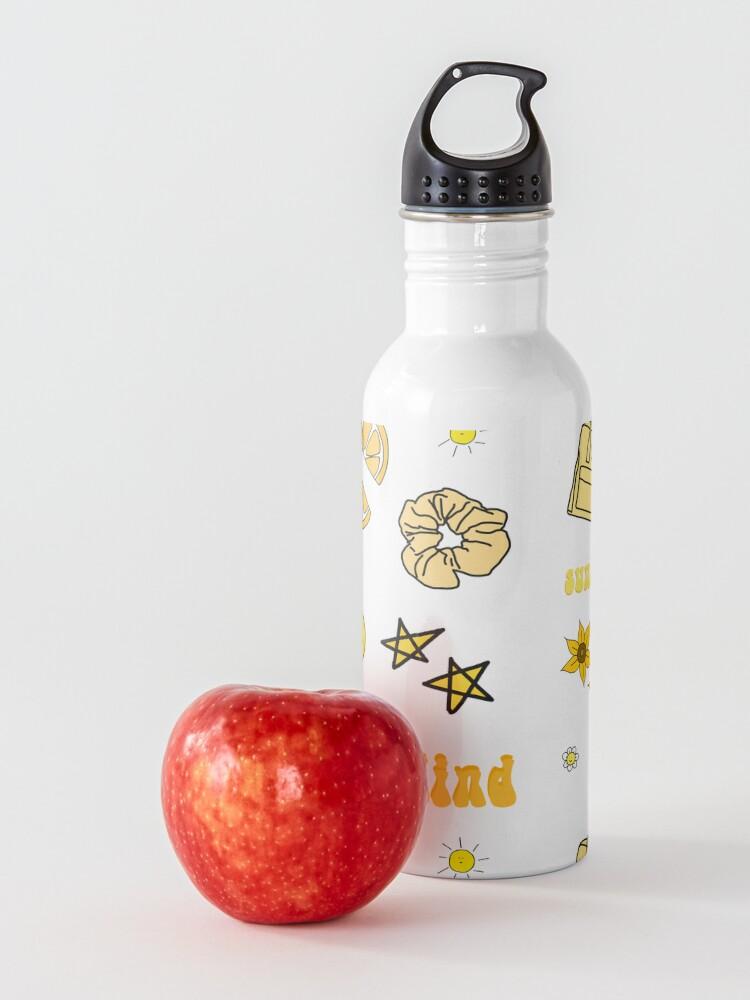 Alternate view of VSCO Girl Yellow Sticker Packet Water Bottle