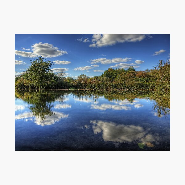 The river Itchen - Winchester Photographic Print