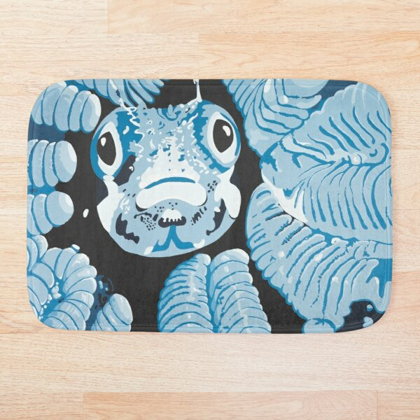 Hide in the Coral DEEP BLUE SEA Bath Mat