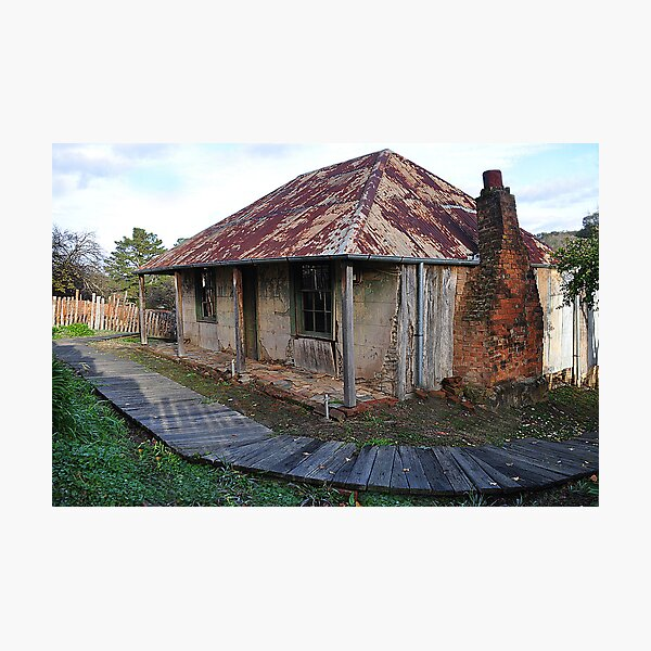 Beyer's Cottage - Hill End NSW Australia Photographic Print