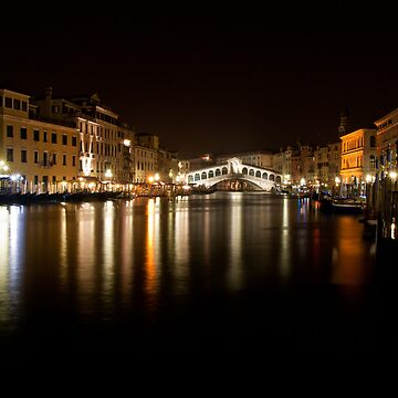 Rialto by Night - Venice by skphotography