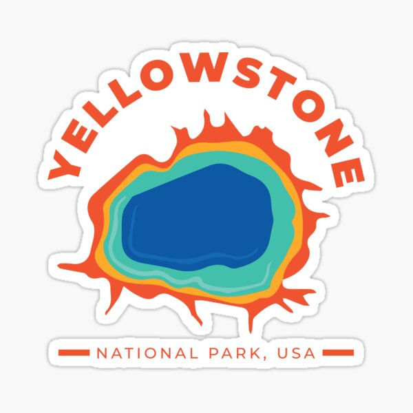 Yellowstone National Park - Grand Prismatic Spring Sticker