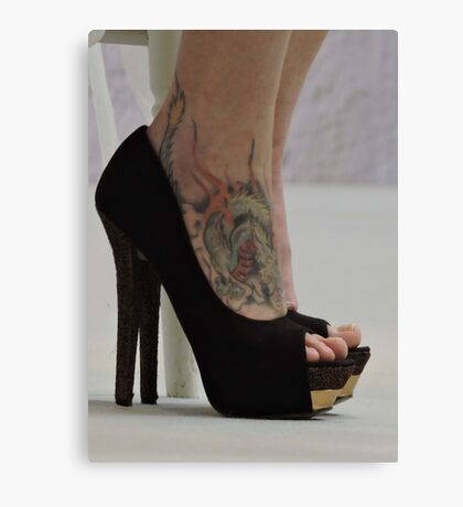 Heels With The Dragon Tattoo  Canvas Print