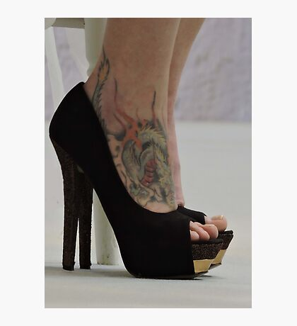 Heels With The Dragon Tattoo  Photographic Print