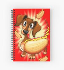 Dachshund Hot Dog Cute and Funny Character Spiral Notebook