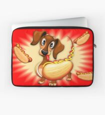 Dachshund Hot Dog Cute and Funny Character Laptop Sleeve