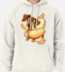 Dachshund Hot Dog Cute and Funny Character Pullover Hoodie