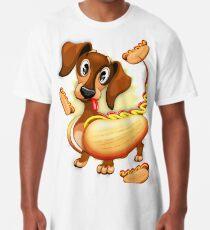 Dachshund Hot Dog Cute and Funny Character Long T-Shirt