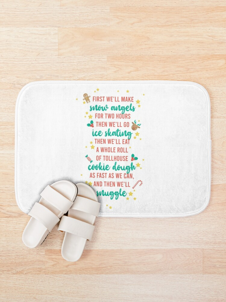 Alternate view of First We'll Make Snow Angels Bath Mat