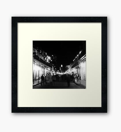 they flock into the darkness of the night Framed Print