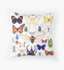 Insect collection Throw Pillow
