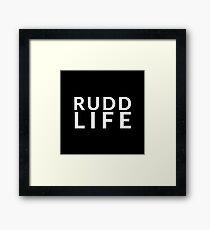 RUDD LIFE Paul Rudd - black Framed Print
