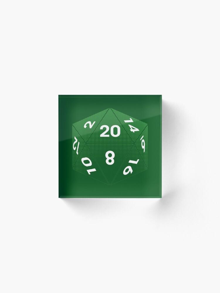 Alternate view of Crit Success - Green Acrylic Block