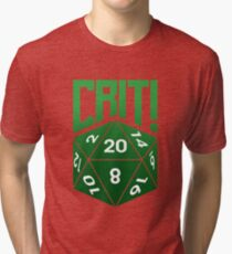 Crit Success - Green Tri-blend T-Shirt