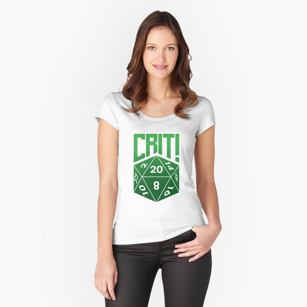 Crit Success - Green Fitted Scoop T-Shirt